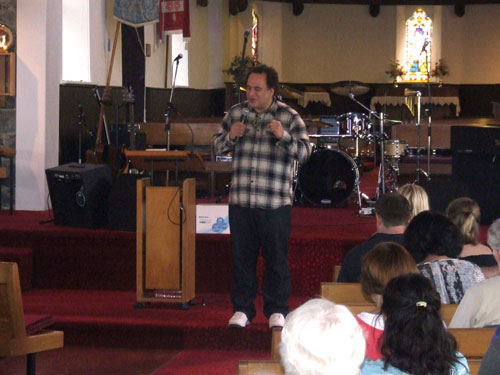 Mike Pilavachi visits St Barnabas