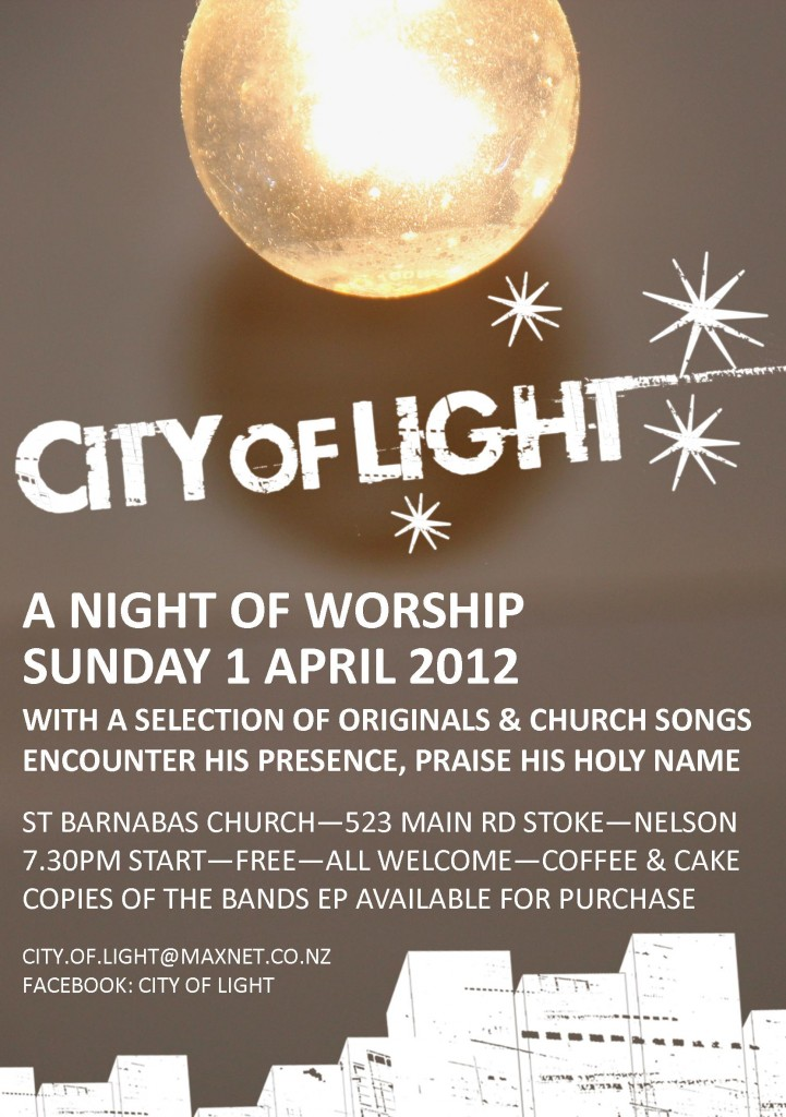 City of Light Gig at St Barnabas