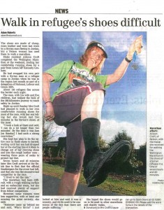 Walk in Refugee's Shoes Difficult